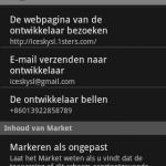 Stap 5 : Open de Market en installeer de