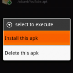 "Stap 6 : Open eoeAppInstaller en installeer ""YouTube.apk""."