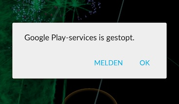 Google Play-services is gestopt