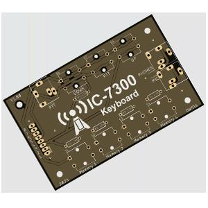 Icom IC-7300 External Keyboard – PCB